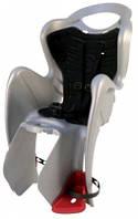 Сиденье заднее BELLELLI MR FOX Clamp  детское до 22кг (серебро с чёрным) крепится на багажник