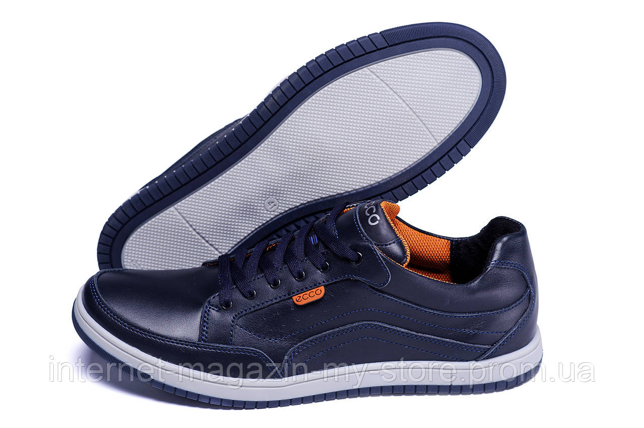Мужские кожаные кроссовки в стиле ECCO
