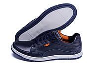 Мужские кожаные кроссовки в стиле ECCO, фото 1
