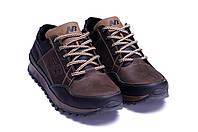 Мужские кожаные кроссовки в стиле New Balance Clasic Brown коричневые, фото 1