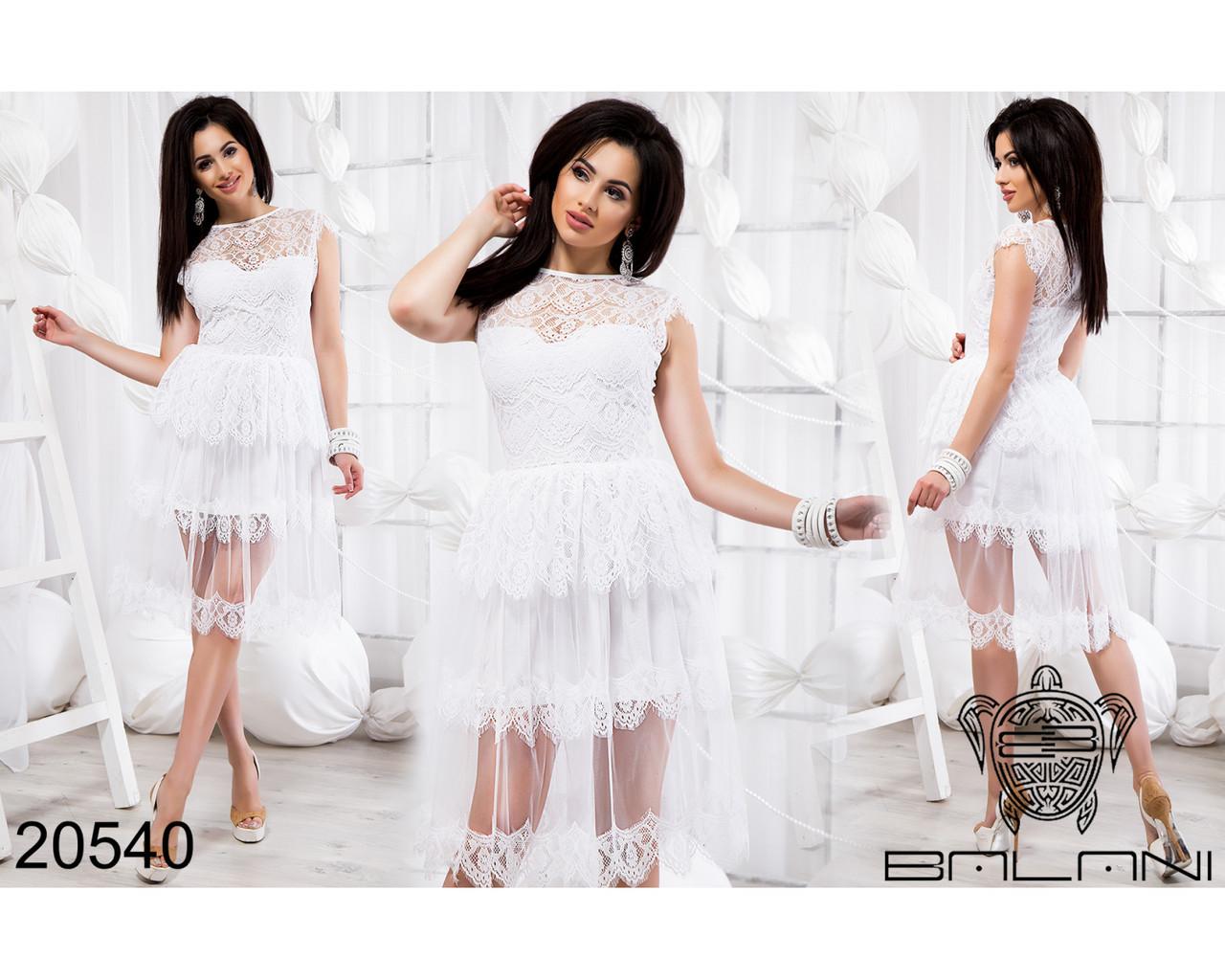 Белое платье с гипюром