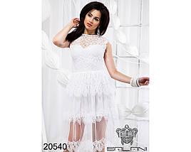 Белое платье с гипюром, фото 3