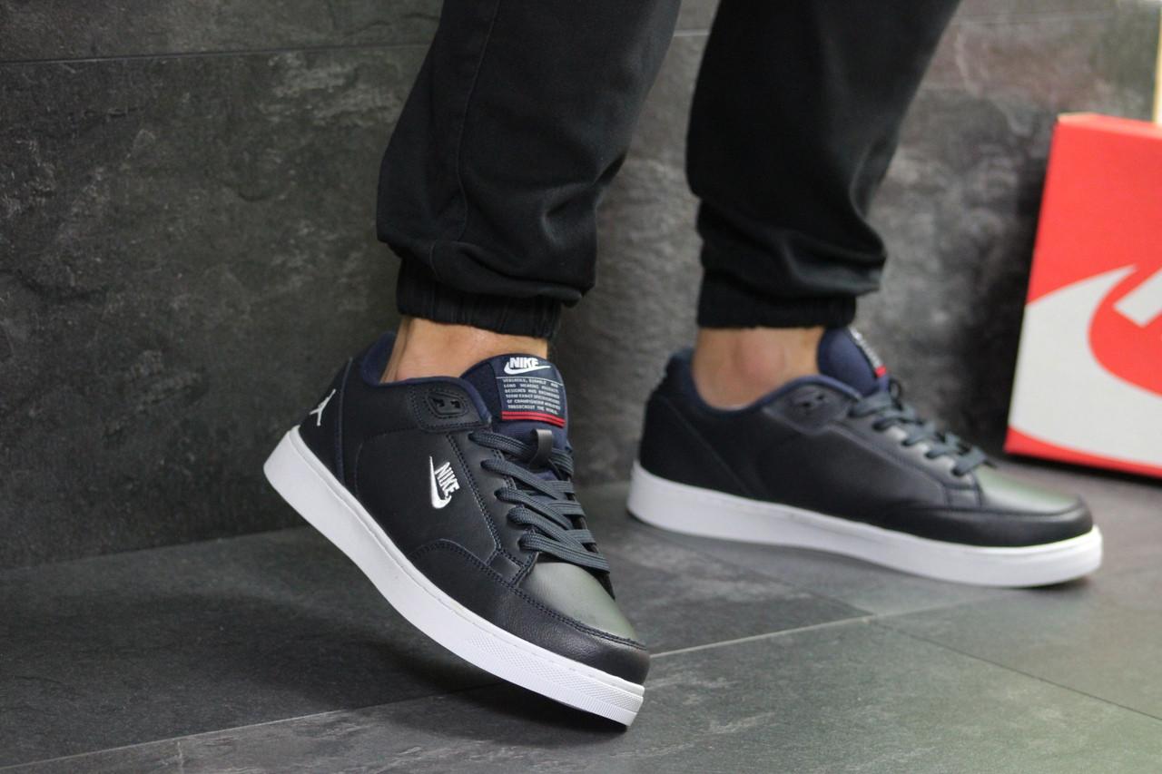 Мужские кроссовки Nike Jordan (Темно-синие)