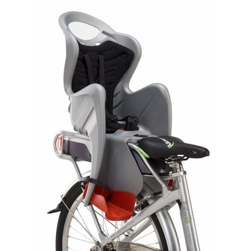 Сиденье заднее BELLELLI MR FOX Clamp  детское до 22кг (серый с оранж) крепится на багажник