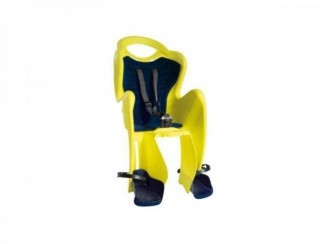 Сиденье задн. Bellelli MR FOX Сlamp (на багажник) до 22кг, неоново-жёлтое с чёрной подкладкой
