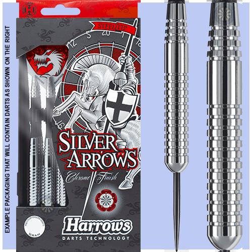 Дротики для игры в дартс из никеля Silver Arrow Англия Harrows
