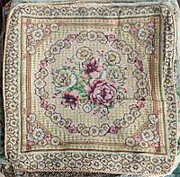 Изысканная наволочка на подушку (50х50 см) - Розы