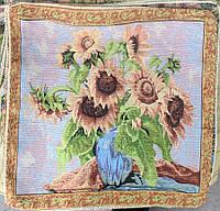 Изысканная наволочка на подушку (50х50 см) - Подсолнухи