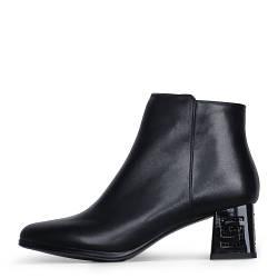 Элегантные кожаные демисезонные женские ботинки на среднем каблуке BARBORRY