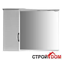 Зеркальный шкаф для ванной комнаты Атолл (Ольвия) Бавария белый глянец