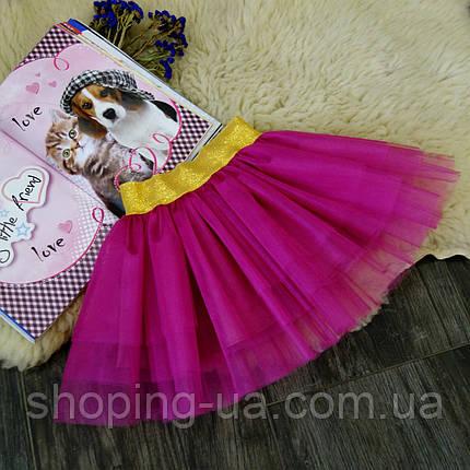 Нарядная фатиновая бордовая юбка Five Stars U0177-110p, фото 2