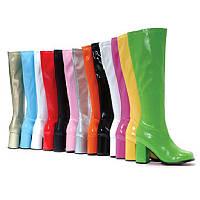 Стильные яркие  женские сапоги на устойчивом  каблуке 12 цветов 35-43 размер