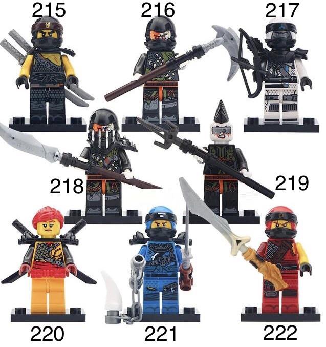 Новые Минифигурки ниндзяго ninjago Лего Lego Гармадон брелок фигурки дяпчики кай зейн ллойд Ниа Коул