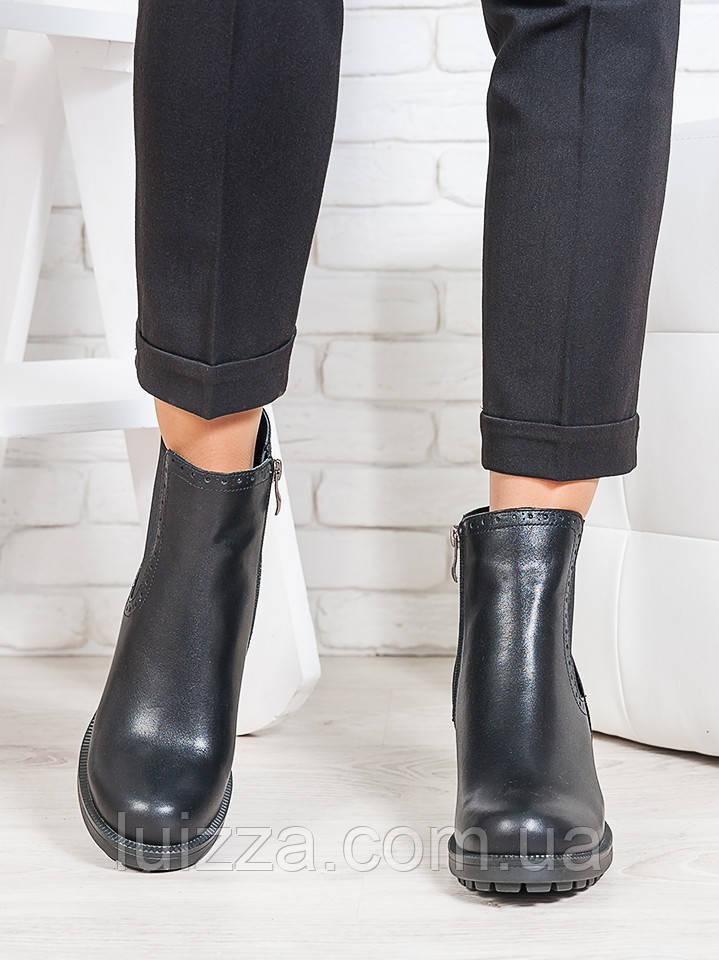 Ботинки натуральная кожа каблук 36-40р