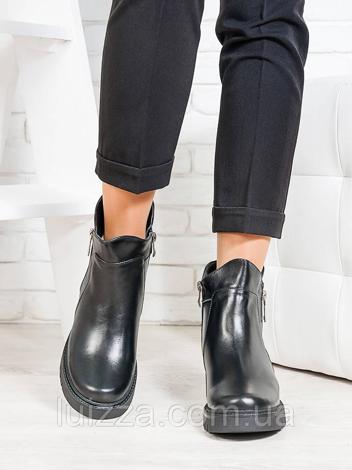 Ботинки Combі черная кожа 36-41р