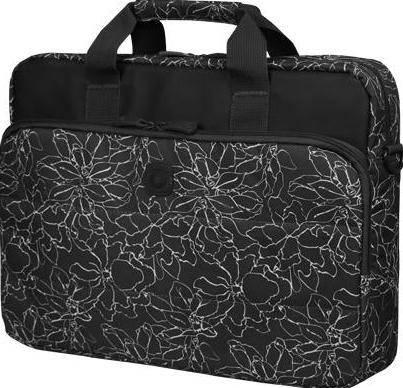 """Женская стильная сумка для ноутбука 15"""" - 15,6"""" Continent CC-032 Blackprint черный"""
