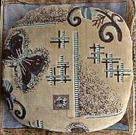 Практичный чехол с паралоном на табурет-стул для дома - Бабочки (74-18)