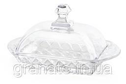 Маслёнка стеклянная для сливочного масла 17х11 см