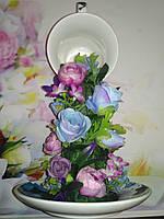 Подарунок на 14 лютого. Ширяюча чашка декорована., фото 1