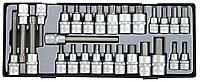 """Набор головок-бит HEX SPLINE 1/2"""", 3/8"""" 27 пр. FORCE T4281."""
