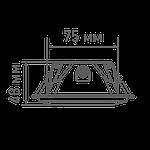 Світлодіодний світильник точковий MAXUS 1-MAX-01-3-SDL-09-S 3-step 9W 3000/3500/4100K Квадратний, фото 3