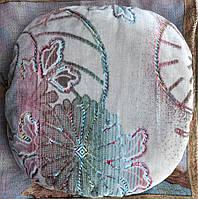 Практичный чехол с паралоном на табурет-стул для дома - Цветы