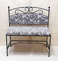 Кованый диван со спинкой 04.