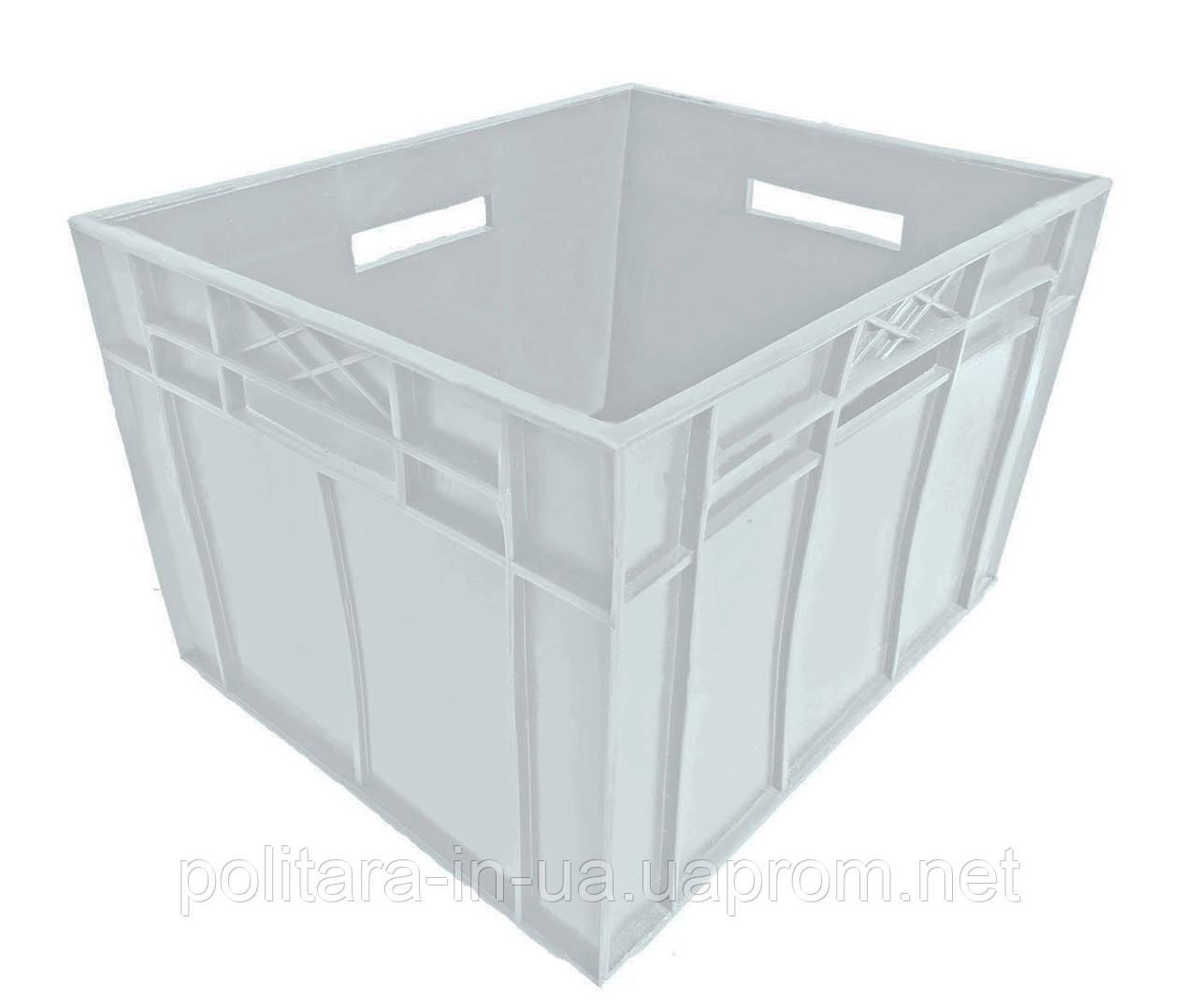 Ящик сплошной для молока и сыпучих продуктов  433x347x283 белый