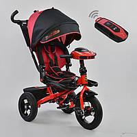 Трёхколёсный велосипед Бест Трайк Best Trike 6088 F - 1120 красный с фарой и пультом. Поворотное сиденье.