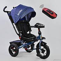 Трёхколёсный велосипед Бест Трайк Best Trike 6088 F - 1560 синий с фарой и пультом. Поворотное сиденье.