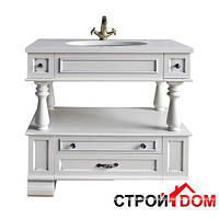 Тумба для ванной комнаты Атолл Джулия 95 ivory (серебро)