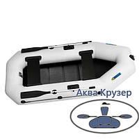 Гребний човен пвх omega Ω 280 LS для 2-х, 3-х рибалок з поворотними кочетами і рейкової сланью, фото 1