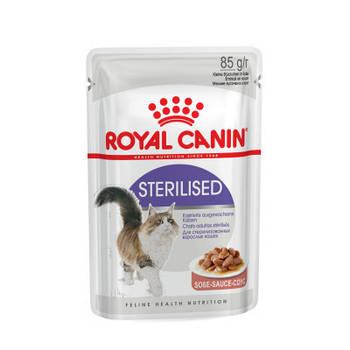 Влажный корм Royal Canin (Роял Канин) Sterilised для стерилизованных кошек, 85гx12 шт