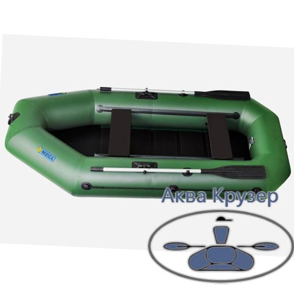 Лодка пвх omega Ω 280 LS (PS) для 2-х, 3-х рыбаков со сланью и  передвижными сиденьями