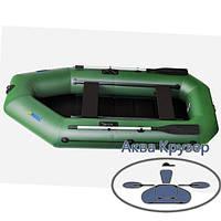 Лодка пвх omega Ω 280 LS (PS) для 2-х, 3-х рыбаков со сланью и  передвижными сиденьями, фото 1