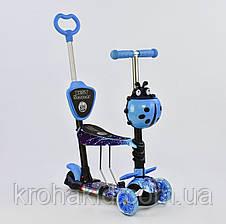 Самокат-беговел 5в1 Best Scooter, АБСТРАКЦИЯ (58420 РОЗ)(55001 ГОЛУб) (19870 ФИОЛ) (33650 САЛАТ) 15600 ОРАНЖ, фото 3
