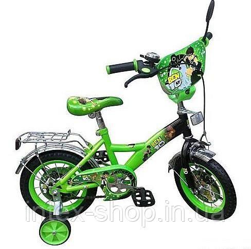 """Велосипед детский мульт 12"""" P 1232B Зелёный B10, NEW"""