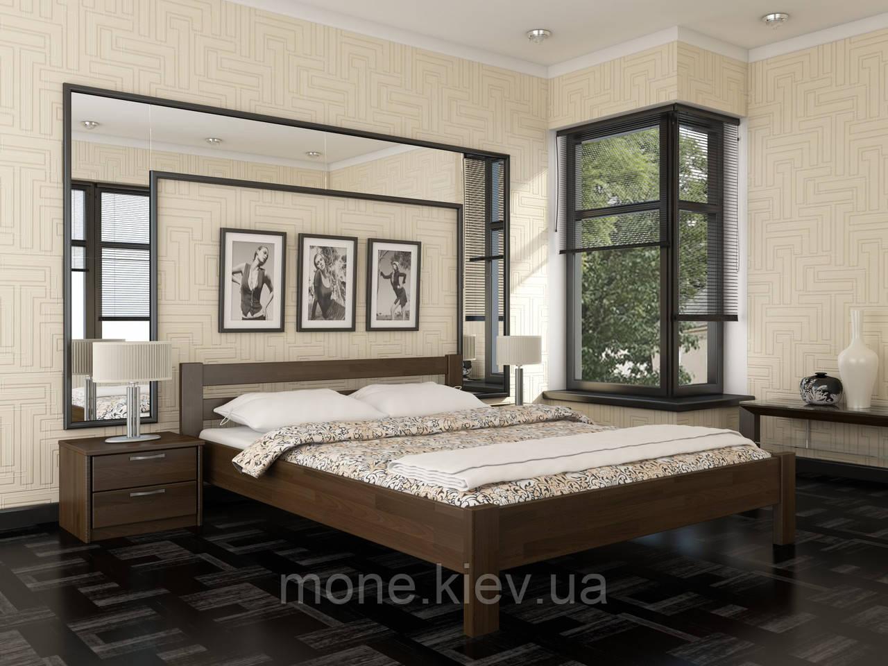 Кровать двуспальная Рената  деревянная из бука