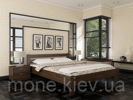 Кровать двуспальная Рената  деревянная из бука , фото 2