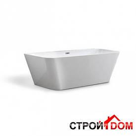 Пристенная ванна с переливом Aqua-World ARTISTIC BATH AC0903 АВ09-03 белая