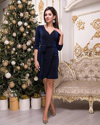 Синее платье с люрексом, фото 2