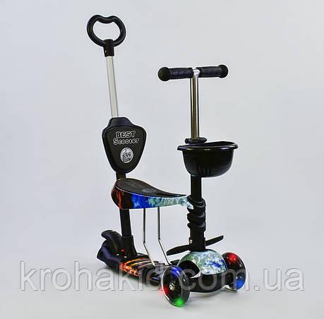 Самокат-беговел  5в1 21500  Best Scooter, АБСТРАКЦИЯ (черный), фото 2
