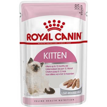 Влажный корм Royal Canin (Роял Канин) Kitten LOAF для котят до 12 месяцев, 85гx12 шт