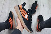 Мужские кроссовки в стиле Adidas Sobakov (black/orange), кроссовки адидас собаков (Реплика ААА), фото 1