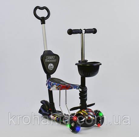 Самокат-беговел  5в1 26900  Best Scooter, АБСТРАКЦИЯ (черный) , фото 2