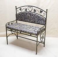 Кованый диван со спинкой 05.