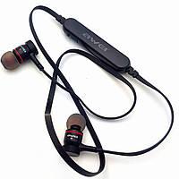 Беспроводные наушники с микрофоном Bluetooth гарнитура AWEI A922BL черные