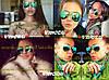 Очки Ray Ban со стеклянными зелеными линзами