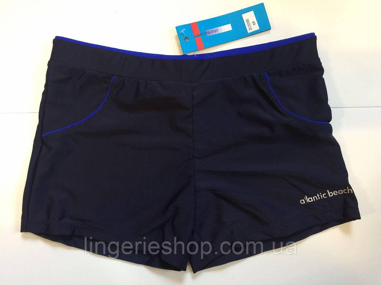 Плавки-шорты мужские Atlantic (полубатал) синий с электрик