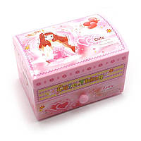Шкатулка детская музыкальная розовая с балериной